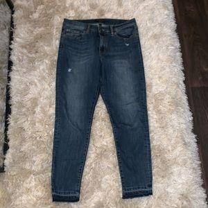 Banana Republic High Rise Distressed Skinny Jeans